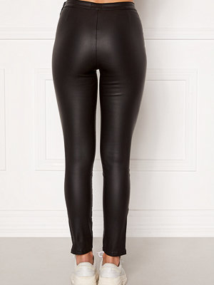 Bubbleroom Brienne coated zip leggings