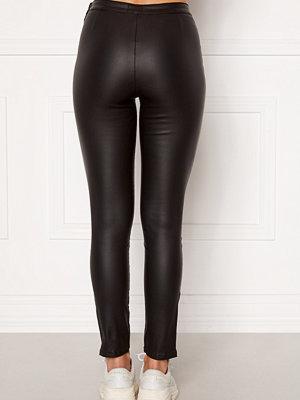 Leggings & tights - Bubbleroom Brienne coated zip leggings