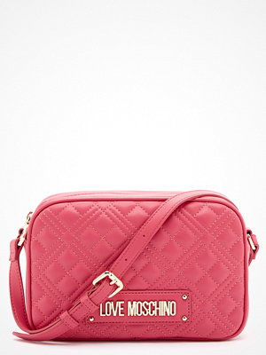 Love Moschino rosa axelväska New Shiny Quilted Bag 604 Fuxia