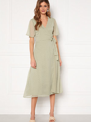 Bubbleroom Scarlette midi dotted dress Dusty green
