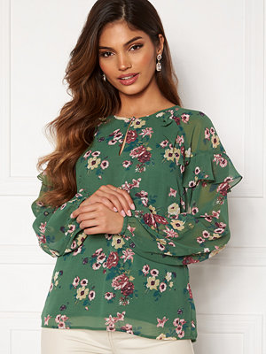 Happy Holly Becky blouse Green / Patterned