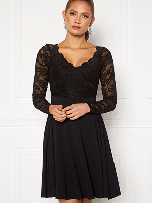Goddiva Long Sleeve Lace Skater Dress