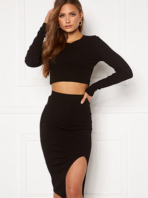 Bohemian Lounge Rib Crop Top Skirt Set