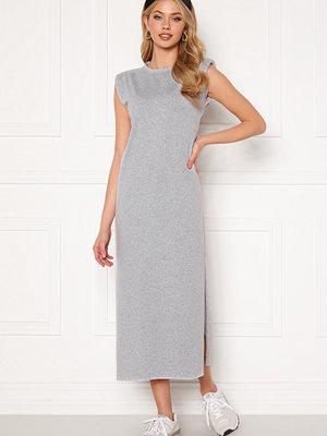 Bohemian Lounge Shoulder Pad Midaxi Dress Grey