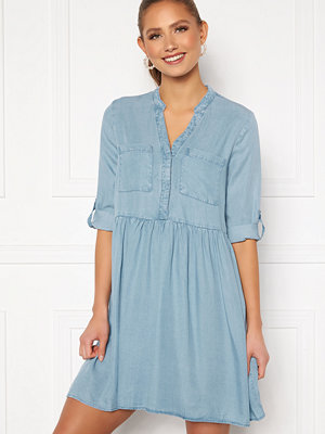 Vero Moda Libbie 3/4 Loose Tunic Light Blue Denim