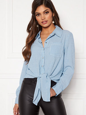 Only Lecey Ls Stripe Knot Dnm Shirt