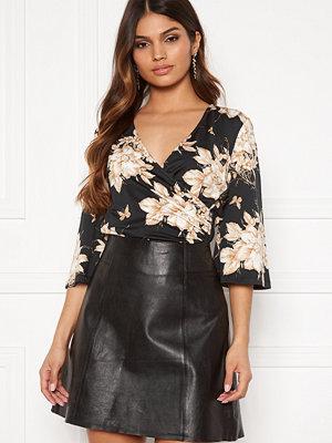 Happy Holly Simone kimono sleeve Black / Patterned