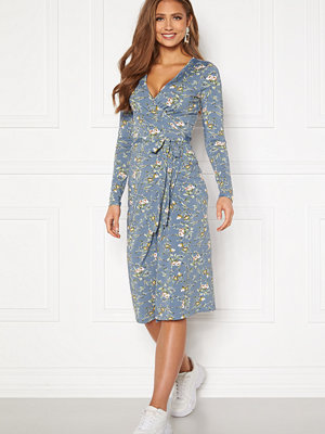 Chiara Forthi Sonnet wrap midi dress Blue / Floral