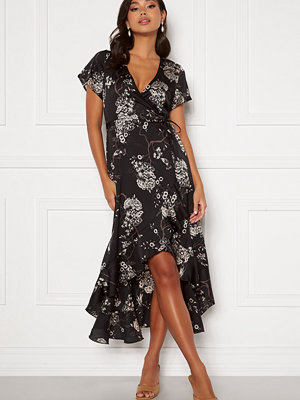 Chiara Forthi Nadine wrap flounce dress Black / Patterned