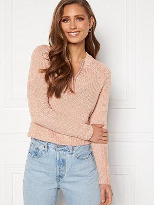 Only Juna Life L/S Zip Pullover Misty Rose White Mel