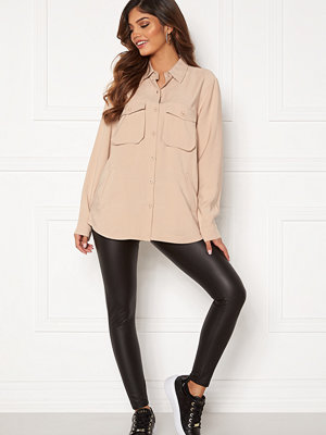 Happy Holly Maria woven shirt Light beige