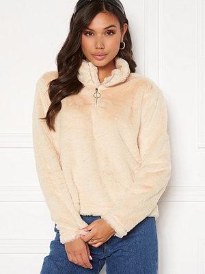 Rut & Circle Alex Fur Sweater Sand