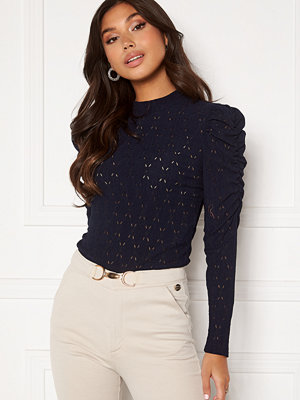 Only Rosaline L/S Highneck Puff Top
