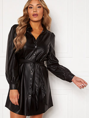 Chiara Forthi Faye faux leather shirt dress