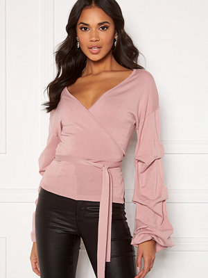 Bubbleroom Maggie knitted wrap top Dusty pink