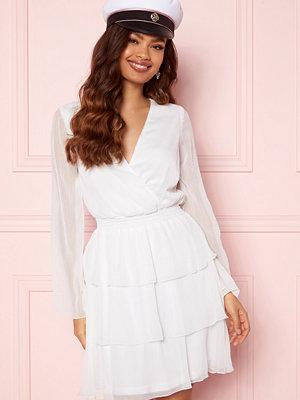 Bubbleroom Alina Frill Dress White