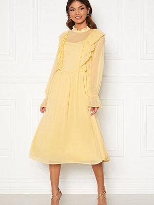 Vila Ashlynn Highneck L/S Dress Sunlight