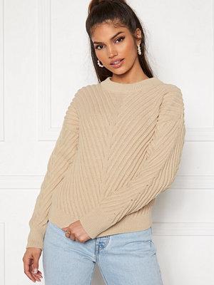Object Alexandra L/S Knit Pullover Sandshell