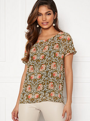 Object Steph Urban SS Top Forest Night AOP Flo