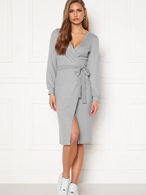 Chiara Forthi Corina rib wrap midi dress