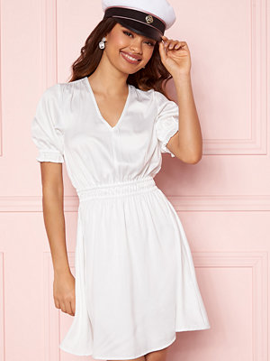 Bubbleroom Mayra Puff Sleeve Dress White