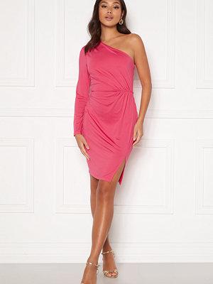 Bubbleroom Meryam one shoulder dress Pink