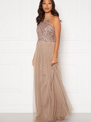 Angeleye High Neck Sequin Maxi Dress
