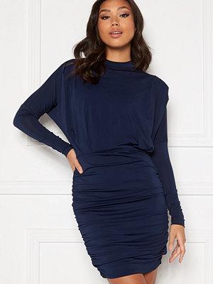 Ax Paris Long Slevee Rouch Mini Dress