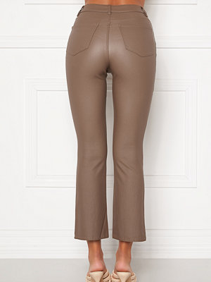 Object omönstrade byxor Belle MW Coated Flared Pants