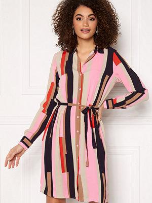 Vero Moda Saga Collar Shirt Dress Prism Pink / Matilda
