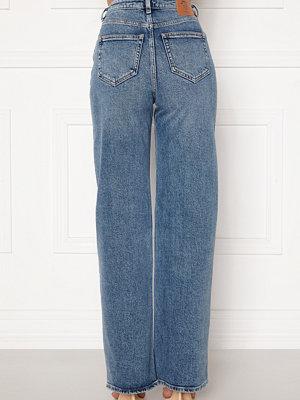 Only Juicy HW MB Wide Leg Jeans Medium Blue Denim