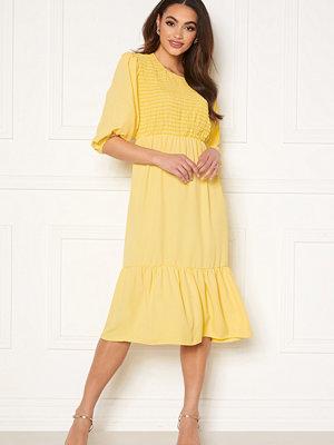 John Zack Smock Midaxi Dress Lemon