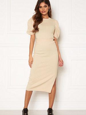 Kjolar - Bubbleroom Linnelle knitted skirt White