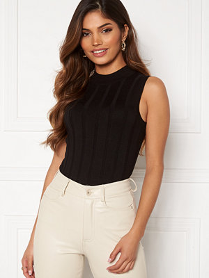 Happy Holly AnaBelle knitted sleeveless top Black