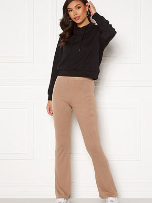 Pieces beige byxor Molly HW Flared Pants