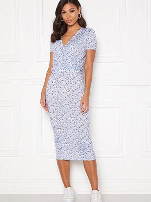 Bubbleroom Becky wrap dress Blue / White