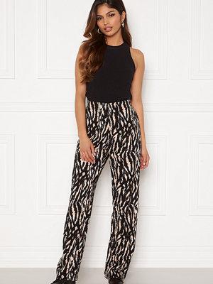 Vero Moda svarta mönstrade byxor Simply Easy Wide Pant