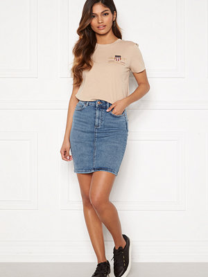 Pieces Lili MW Denim Skirt