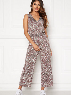 Happy Holly Matilda smock jumpsuit Light lilac / Light beige