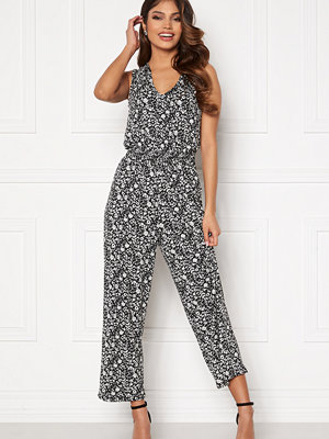 Happy Holly Matilda smock jumpsuit Black / Light beige