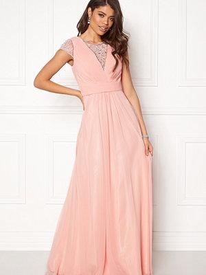 Susanna Rivieri Draped Chiffon Dress Blush