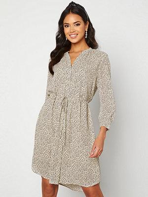 Selected Femme Damina 7/8 Print Dress Sandshell