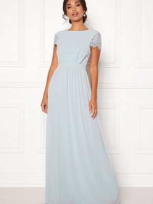 Moments New York Camellia Chiffon Gown Blue-grey