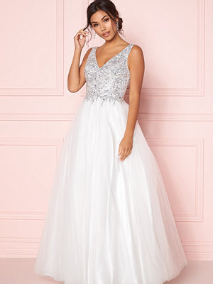 Susanna Rivieri Sparkling Tulle Dress Ivory
