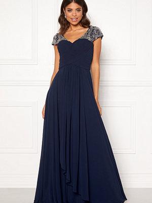 Susanna Rivieri Sweetheart Chiffon Dress Navy
