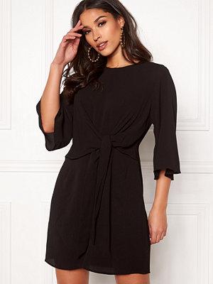 Ax Paris Tie Waist Mini Dress Black