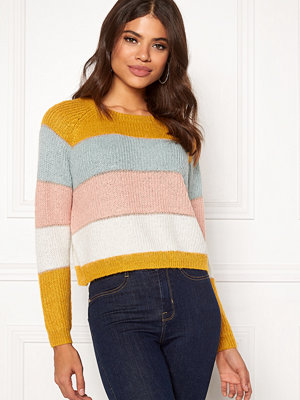 Only Malone Stripe Pullover Golden Yellow