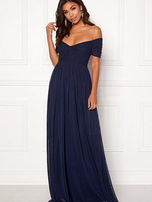 Moments New York Lily Draped Gown Dark blue
