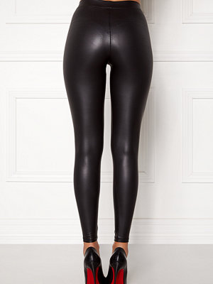 Pieces New Shiny Leggings Black