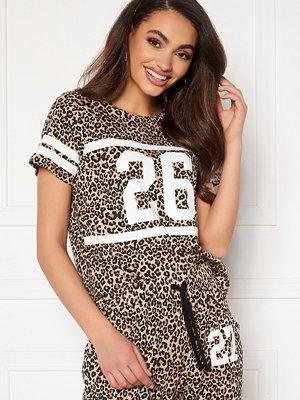Happy Holly Ellen tee White / Leopard / Black